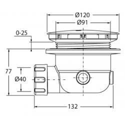 Siphon de douche D50 et D90