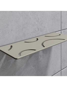 Tablette Design Curve Alu Inox
